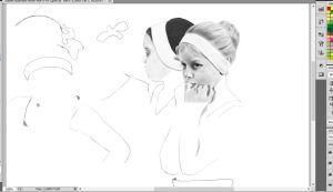 Unfinished Ballet Dancer Drawing